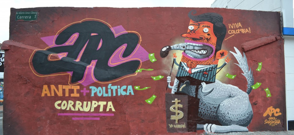 Anti-corruption Graffiti Bogota