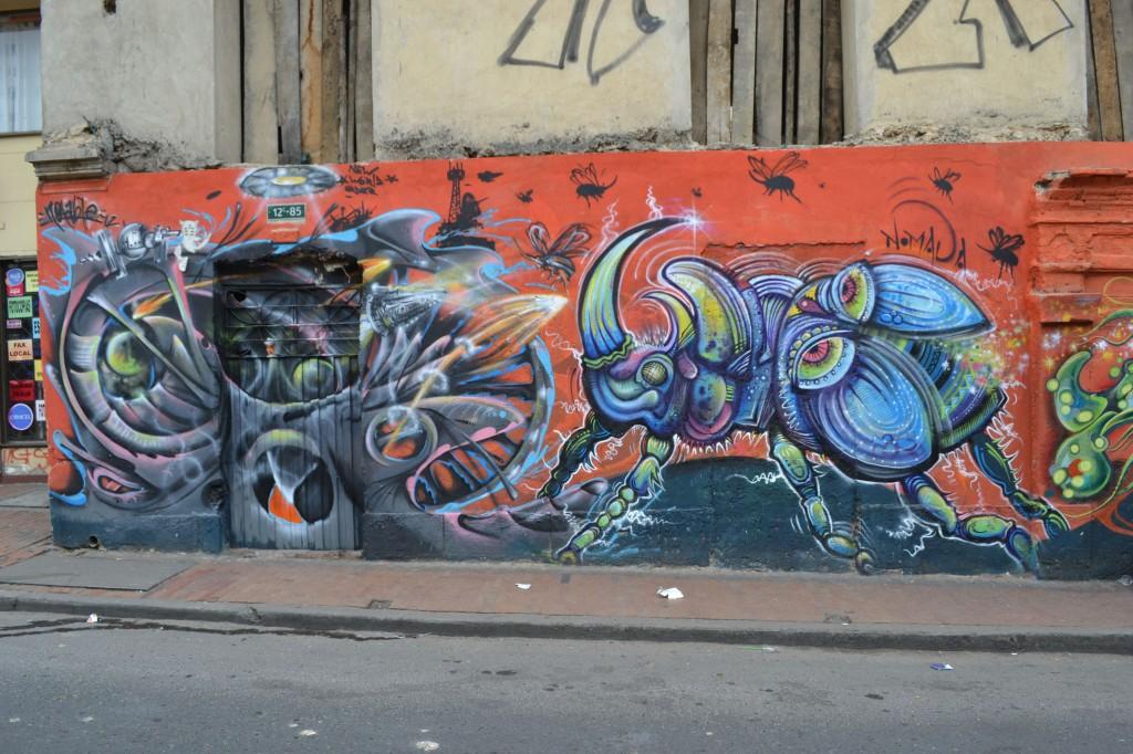 Bug graffiti in La Candelaria, Bogota, Colombia