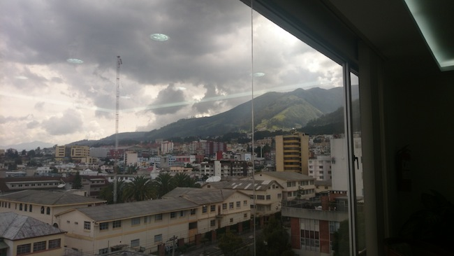 View from Doctor's Office where I got my vaccination in Quito, Ecuador