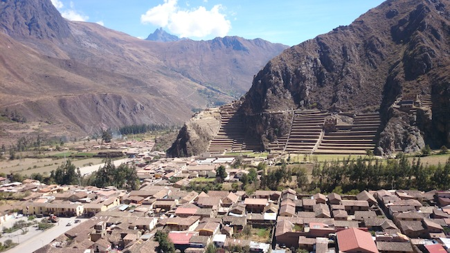 Ollantaytambo from Hillside