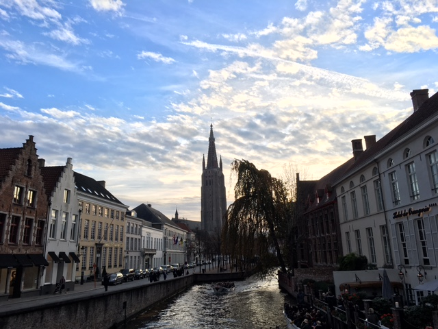Bruges Canal and Tower
